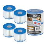 Cartouche de Filtration Intex spa gonflable S1 pack de 4 pièces